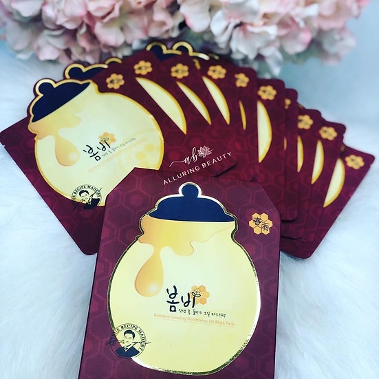 Papa Recipe Bombee Ginseng Red Honey Oil Mask Pack (10pcs)