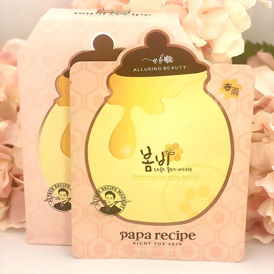 Papa Recipe Bombee Rose Gold Honey Mask Pack (10pcs)