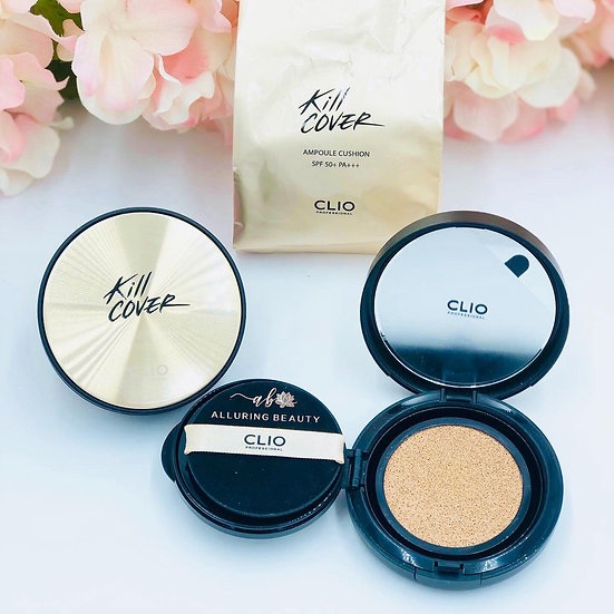 CLIO Kill Cover Ampoule Cushion SPF50+ PA+++ With Refill