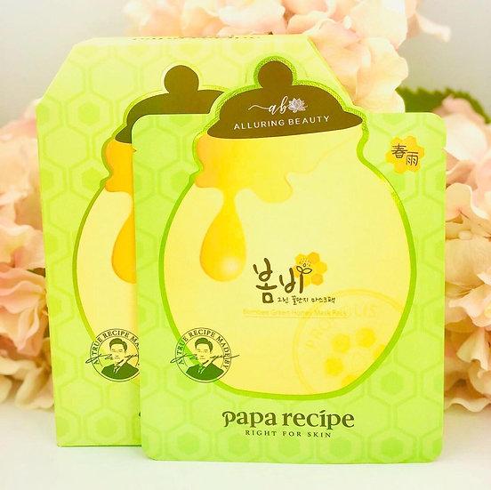 Papa Recipe Bombee Green Honey Mask Pack (10pcs)