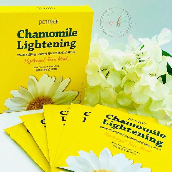 PETITFEE  Chamomile Lightening Hydrogel Face Mask Set 5pcs