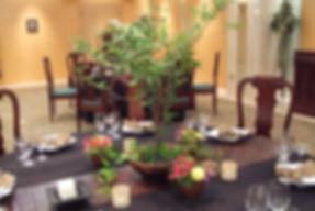 ゲストテーブル和風装花