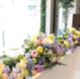ウエディング高砂装花