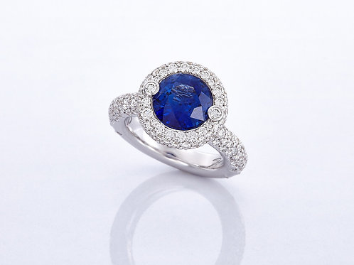 RING HALO BLUE SAPPHIRE