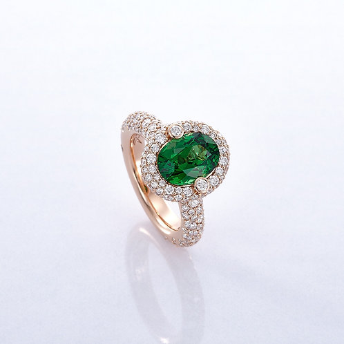 RING HALO TSAVORITE