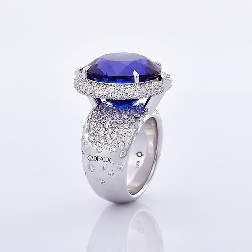 RING HALO TANZANITE