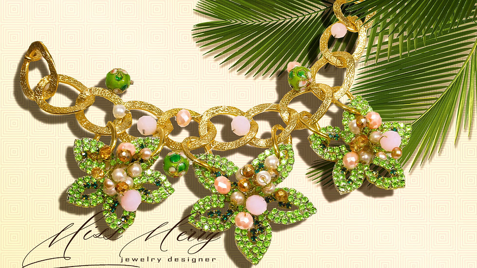 Designer Necklace FLOWERS