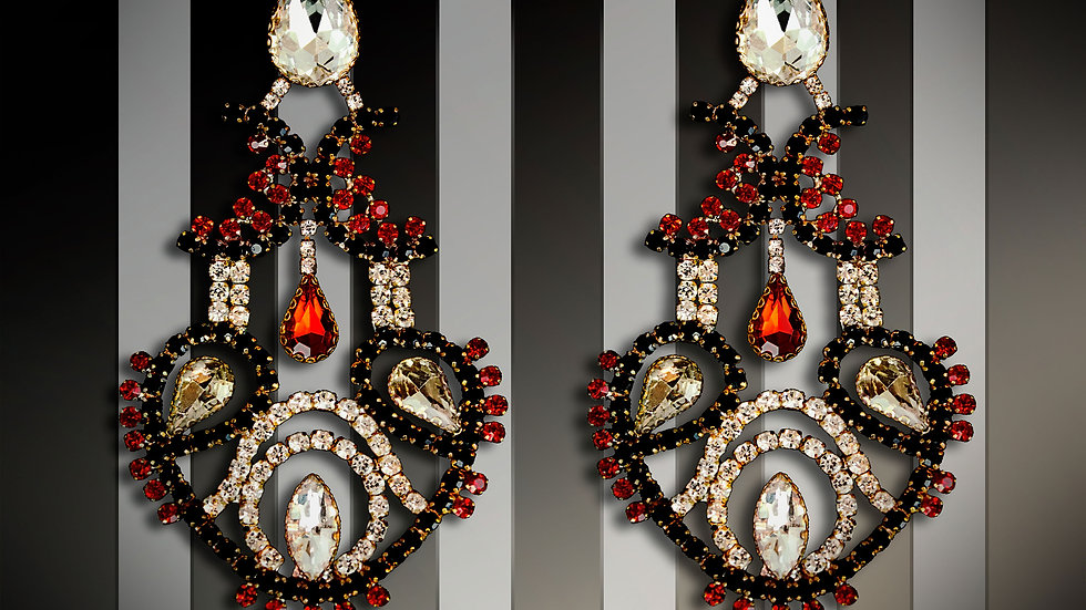 Designer Chandelier Earrings Seduction
