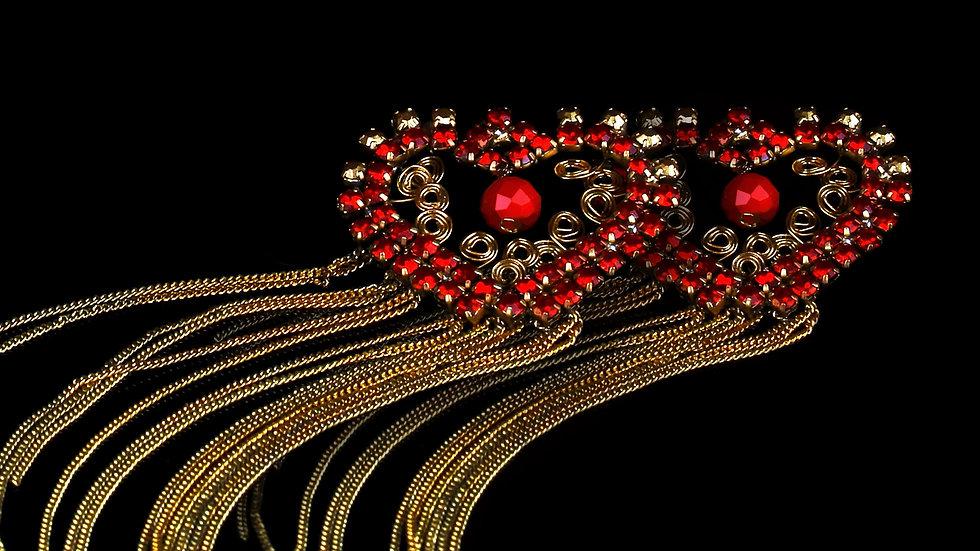Designer Unique Earrings Red Love
