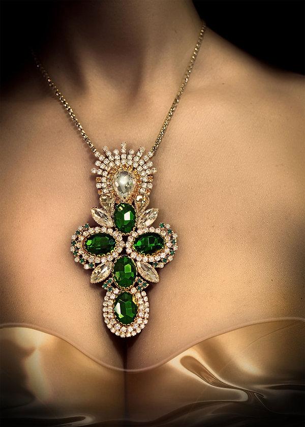 Designer Necklace Crystal Cross