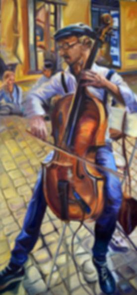 Roman Cello Player Fabio Cavaggion_oil_2