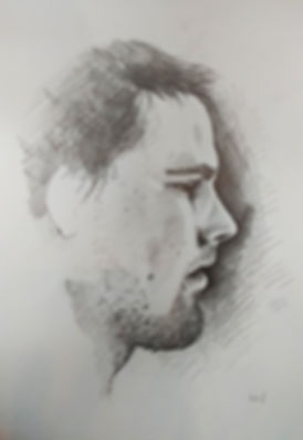 Graphite, Drawing, Sketch, Portrait