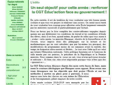 Le petit cahier de la CGT Educ'action : Un seul objectif pour cette année : renforcer la CGT Édu