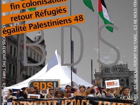Meeting de soutien à BDS le 9 novembre à 19h30 à Montpellier