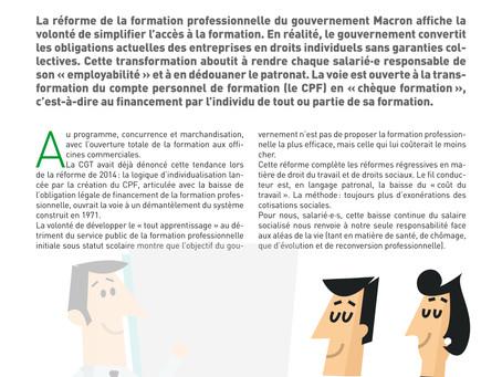 Défendons nos droits collectifs : formation, qualification, salaire !