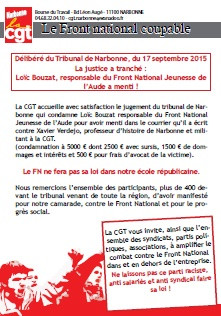 Narbonne : le FN coupable !