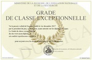 Accès à la classe exceptionnelle des Agrégés, Certifiés, PLP, PEPS, CPE, Psy de l'EN et PE (Camp