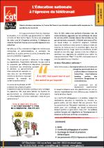 Télétravail : Enquête conditions de travail et 4p CGT Éduc'action