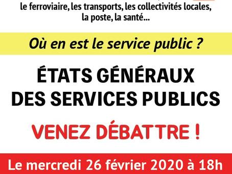 Mercredi 26 février à Montpellier : États généraux du Service public