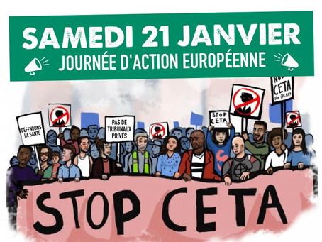 21 janvier 2017 : Journée d'action européenne contre le CETA