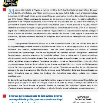 Enseignement professionnel : Autonomie et dérégulation : Mobilisons-nous pour défendre le code du tr