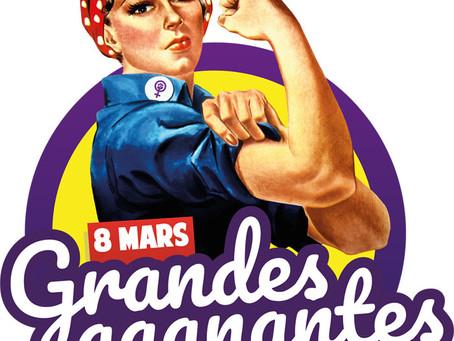 8 mars 2020 : Soyons les grandes gagnantes ! Tou·te·s dans la rue !