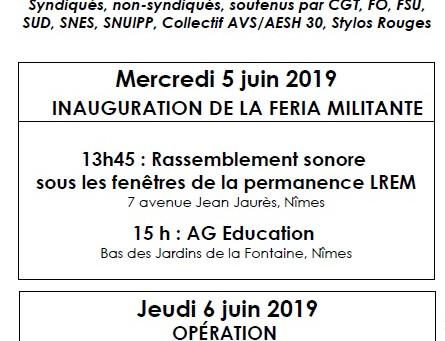 5 et 6 juin : Féria militante dans le Gard !