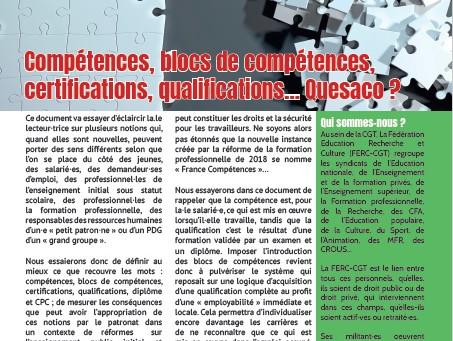 Compétences, blocs de compétences, certifications, qualifications... Quesaco ?
