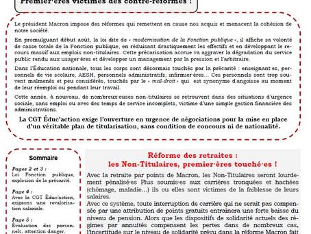 NON-TITULAIRES DE L'ÉDUCATION NATIONALE D'ENSEIGNEMENT, D'ÉDUCATION ET D'ORIENTATION, FAITES RESPECT