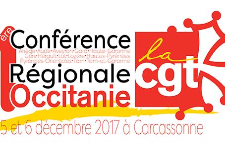 1ère Conférence Régionale CGT Occitanie les 5 et 6 décembre 2017 à Carcassonne