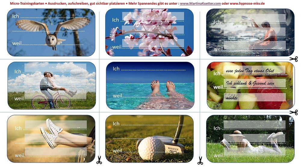 Micro Trainingskarten zum kostenlosen Download