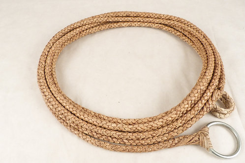 """""""6 Strands"""" brown braided leather tie. Laz 06"""