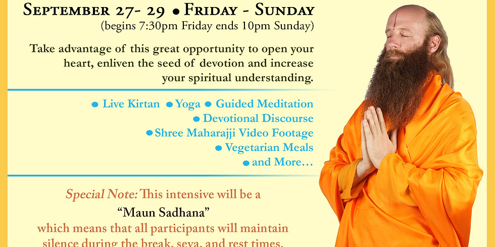 West Cost Intensive: A silent retreat with Swami Nikhilanand