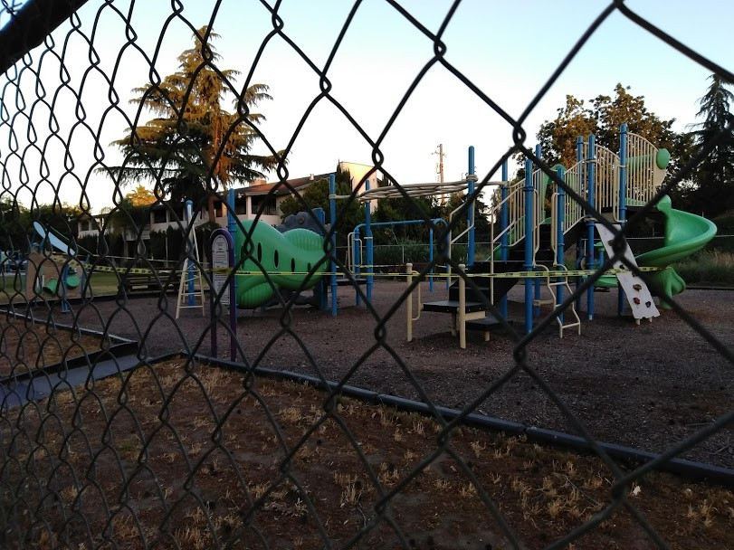 Picture of FIRM playground with caution tape