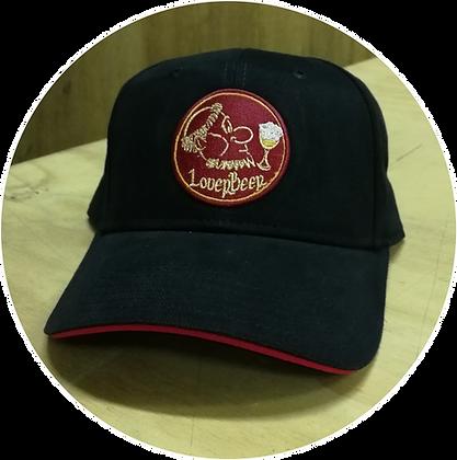 Cappellino nero con ricamo logo