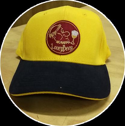Cappellino giallo con ricamo logo