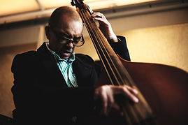 Garry Crosby O.B.E. double bass player orignally from the Uk's Incredible Jazz Warriors, now mentor at the support and Jazz education group Tomorrow's Warriors at the Southbank centre
