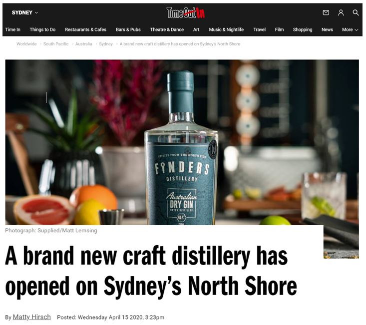 Time Out Article Gin Distillery Sydney.J