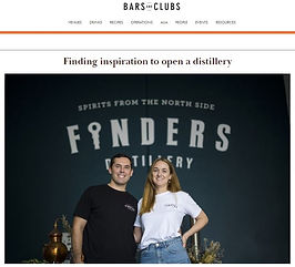 Bars and Clubs - Finders Distillery Spir