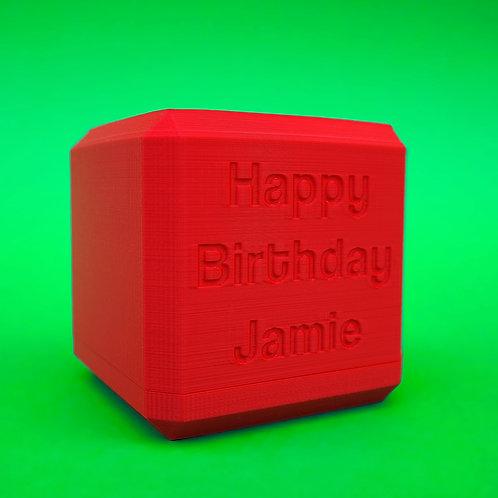 "Labyrinthwürfel ""Happy Birthday [Name]"""