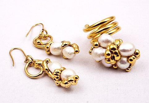 Completo LIANA - perla bianca