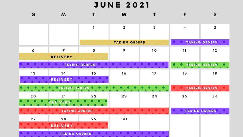 June Delivery Schedule
