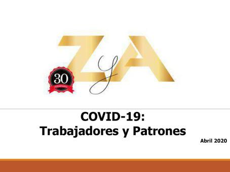 COVID-19: Trabajadores y Patrones