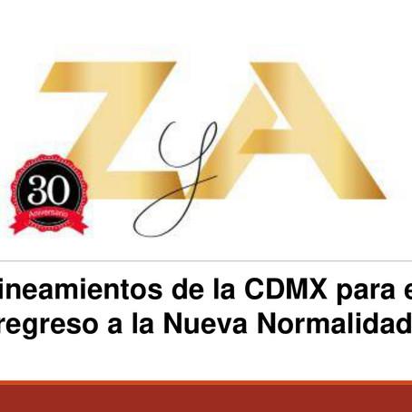 Lineamientos de la CDMX para el regreso a la Nueva Normalidad