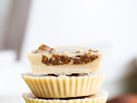 Salted Caramel Tahini Cups| Snacks