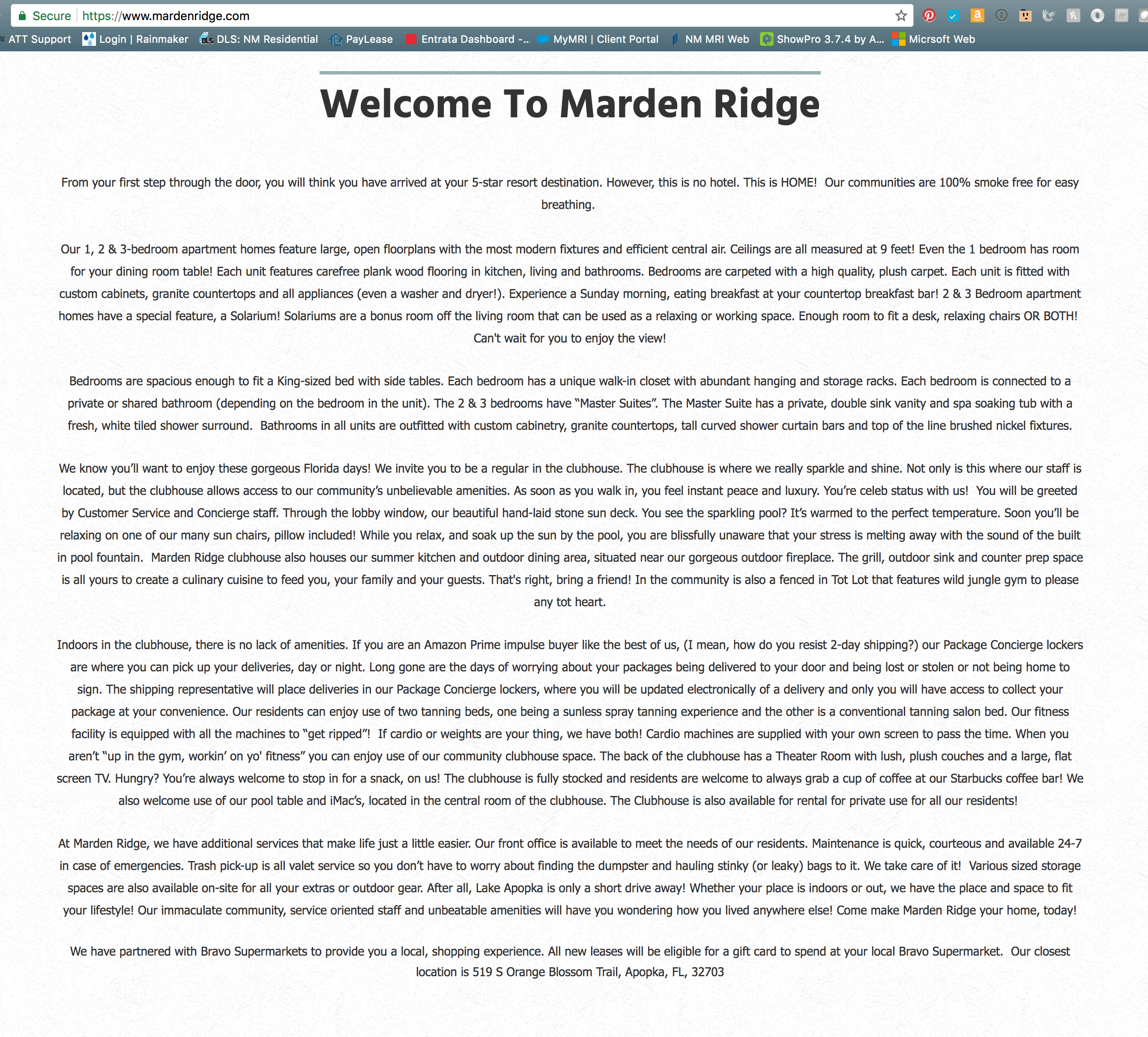 Writing Example Marden Ridge