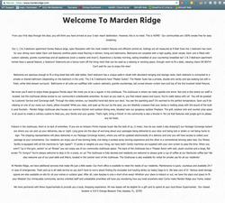 Writing Example Marden Ridge