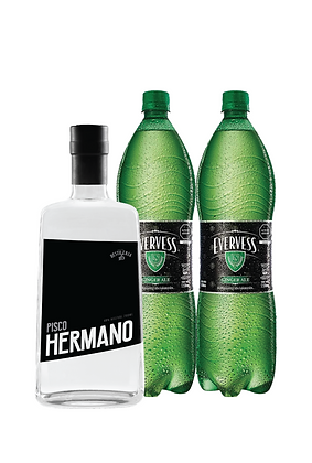 Pack / 1 Pisco Hermano, 2 Ginger Ale