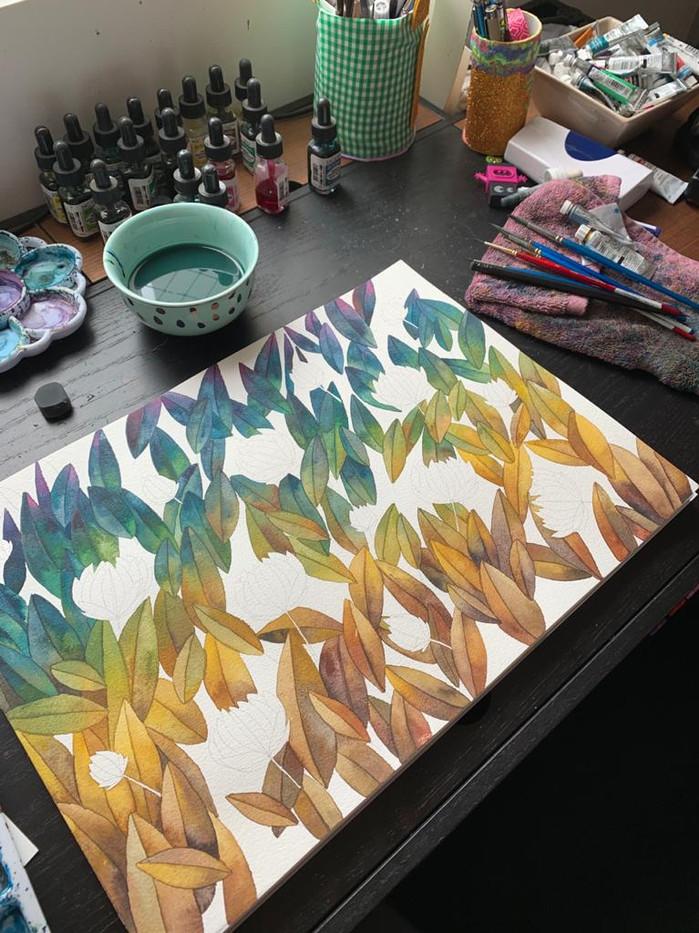 """Rompecabezas N1 """"Las hojas y sus colores"""""""
