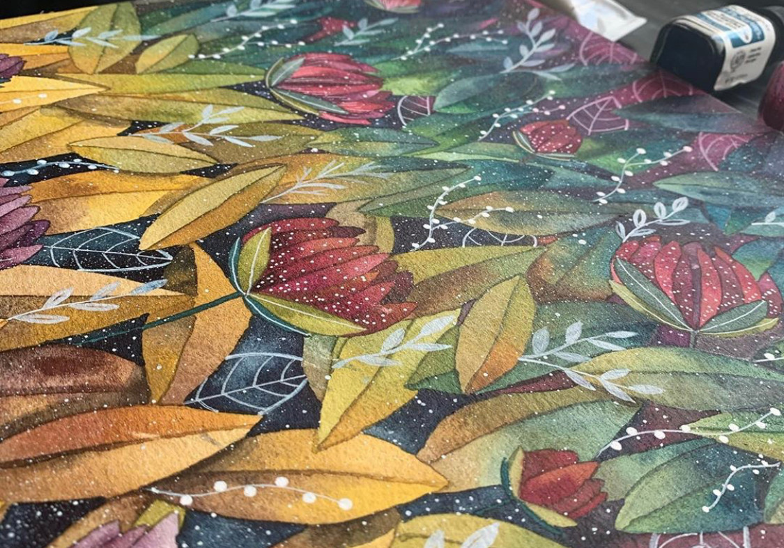 """Rompecabezas N1 """"Las hojas y sus colores'"""